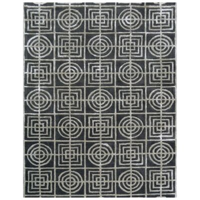 Decotex No.5060 Modern Wool Rug, 230x160cm, Charcoal