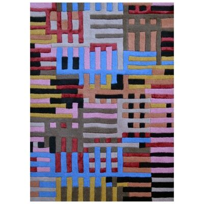 Hoxton Modern Wool Rug, 170x120cm