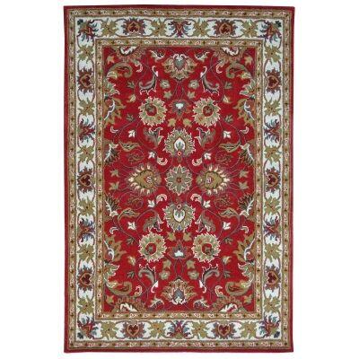 Shana Handmade Wool Kashan Rug, 230x160cm, Red / Ivory
