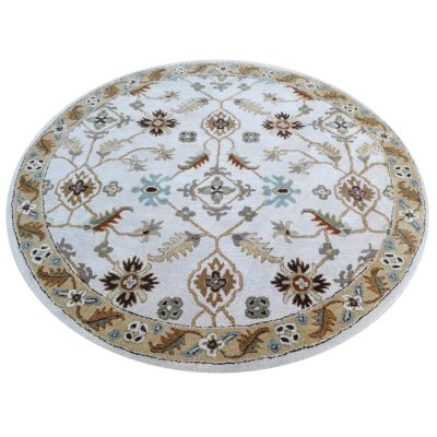 Arak Oriental Round Wool Rug, 180cm