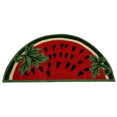 Watermelon Handwoven Wool Kids Rug, 127x67cm