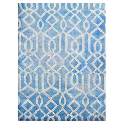 Maryland Tie Dye Modern Wool Rug, 160x110, Aqua