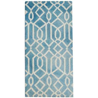 Maryland Tie Dye Wool Rug, 120x60cm, Aqua