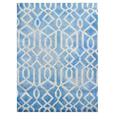 Maryland Tie Dye Modern Wool Rug, 230x160, Aqua