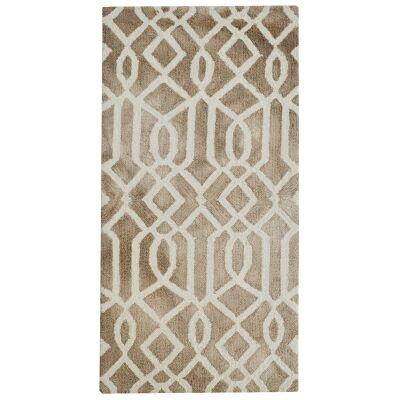 Maryland Tie Dye Wool Rug, 120x60cm, Brown