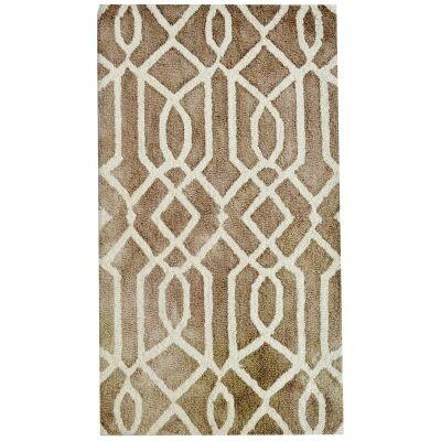 Maryland Tie Dye Wool Rug, 90x60cm, Brown