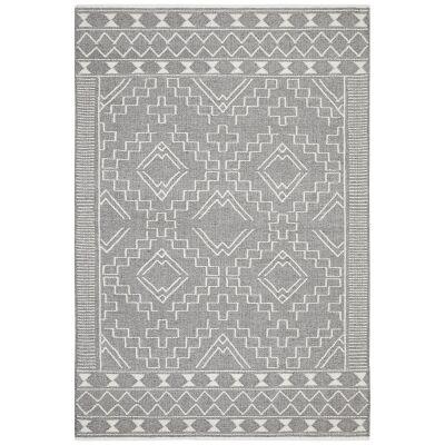 Hudson Blaze Wool Rug, 155x225cm, Grey