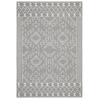 Hudson Blaze Wool Rug, 190x280cm, Grey