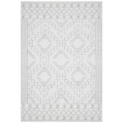 Hudson Blaze Wool Rug, 155x225cm, Ivory