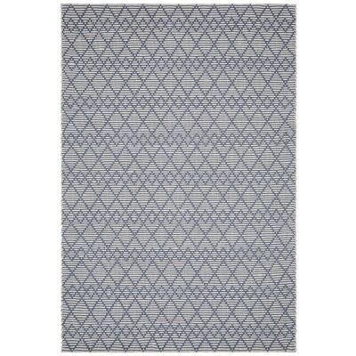 Hudson Jagger Jute & Wool Rug, 155x225cm, Denim