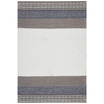 Hudson Rosalie Wool & Cotton Rug, 190x280cm, Denim