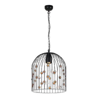 Humbird Metal Cage Pendant Light, Medium