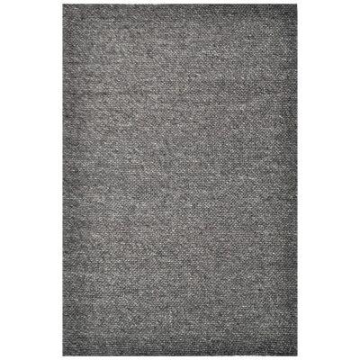 Adelaid Handwoven Wool Rug, 190x280cm, Charcoal