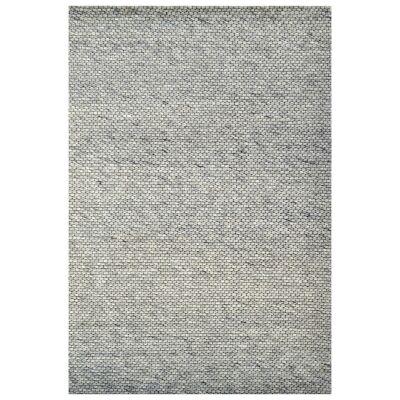 Adelaid Handwoven Wool Rug, 190x280cm, Silver