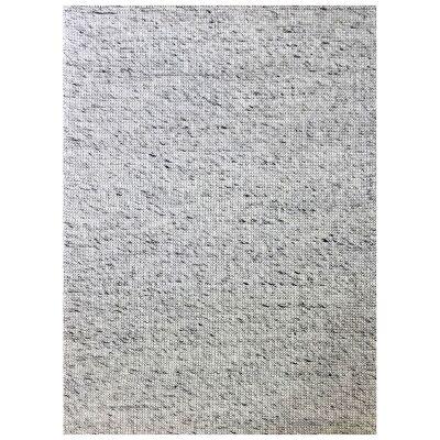 Burlin Handmade Wool Rug, 90x60cm, Ivory / Grey