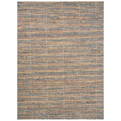 Burlin Handmade Wool Rug, 90x60cm, Ivory / Red