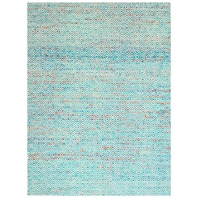 Tribal Mira No.1089 Handwoven Wool Rug, 160x110cm, Aqua