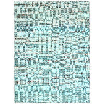 Tribal Mira No.1089 Handwoven Wool Rug, 230x160cm, Aqua