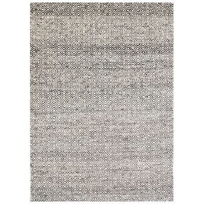 Tribal Mira No.1089 Handwoven Wool Rug, 230x160cm, Ash Grey