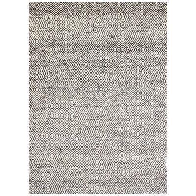 Tribal Mira No.1089 Handwoven Wool Rug, 280x190cm, Ash Grey