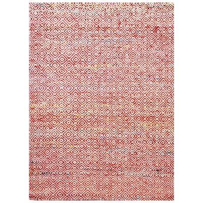 Tribal Mira No.1089 Handwoven Wool Rug, 160x110cm, Red