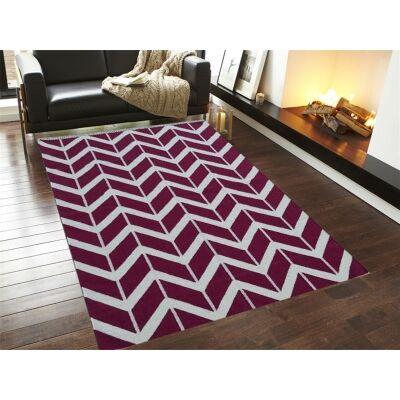 Trendy Woollen Durries in Rani Pink - 160x230cm