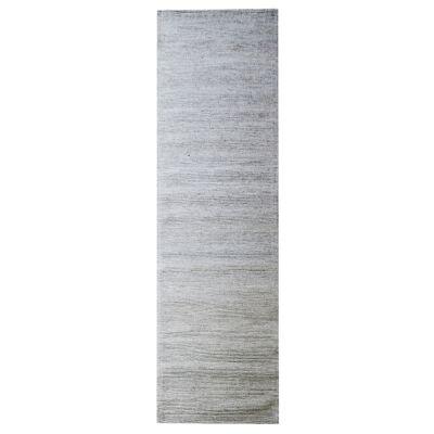 Ridges Handwoven Wool Runner Rug, 300x80cm, Sand