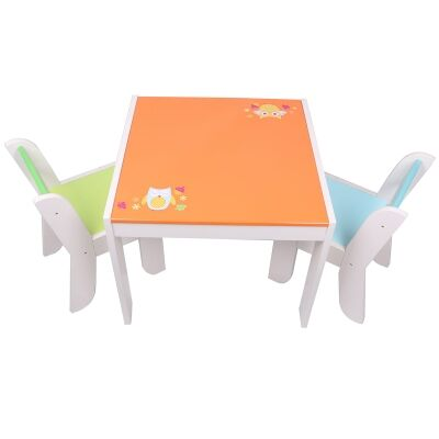 Little Owl 3 Piece Kids Table & Chair Set