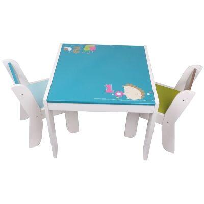 Little Hedgehod 3 Piece Kids Table & Chair Set