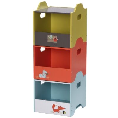 Little Fox 3 Piece Kids Side Load Storage Box Set