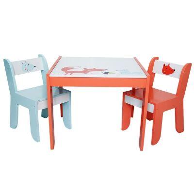 Little Fox 3 Piece Kids Table & Chair Set