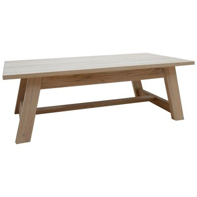 Harold Mountain Ash Timber Coffee Table, 125cm, White Wash