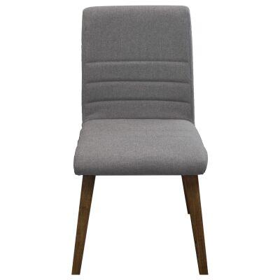 Harold Fabric Dining Chair, Grey / Smoke
