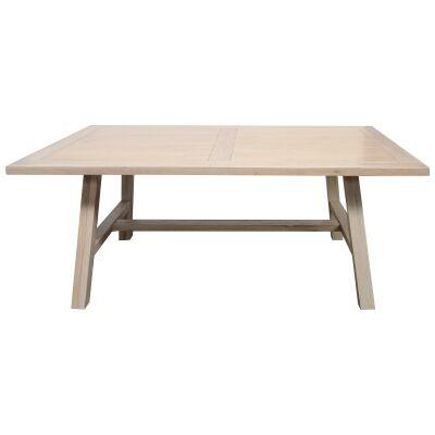 Harold Mountain Ash Timber Dining Table, 180cm, White Wash