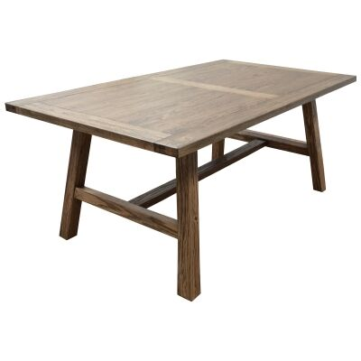 Harold Mountain Ash Timber Dining Table, 210cm, Smoke