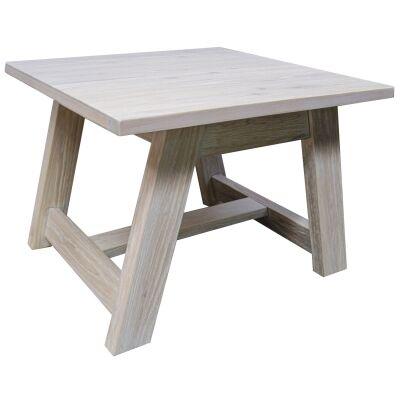 Harold Mountain Ash Timber Lamp Table, White Wash