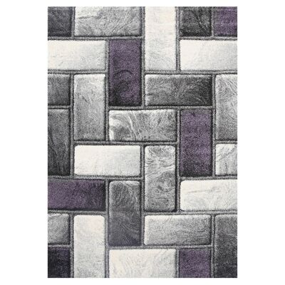 Ivy Bricks I Textured Modern Rug, 80x150cm