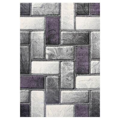 Ivy Bricks I Textured Modern Rug, 200x290cm