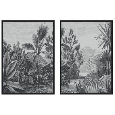 Solano 2 Piece Framed Canvas Wall Art Print Set, 104cm