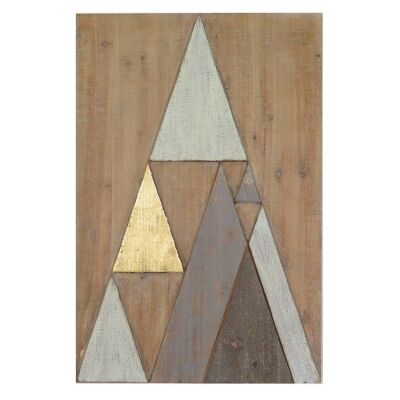Abstract Mountains Timber Wall Art, Portrait, 60cm