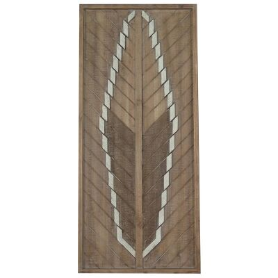 Lucinder Timber Partique Wall Art, Arrow Feather, 91cm