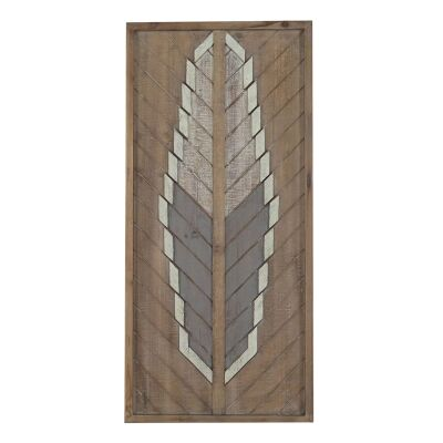 Lucinder Timber Partique Wall Art, Arrow Feather, 76cm