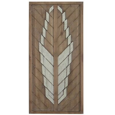 Lucinder Timber Partique Wall Art, Arrow Feather, 60cm