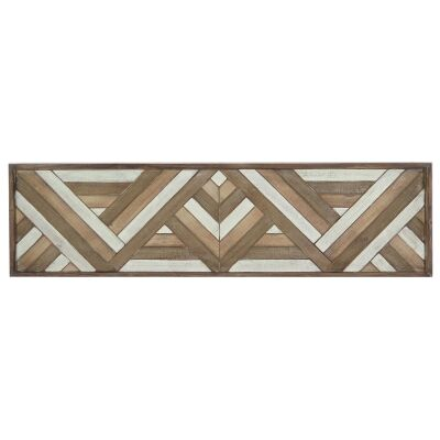 Lucinder Timber Partique Wall Art, Tribal Lines, 122cm