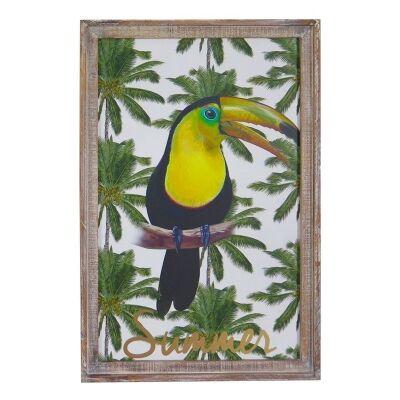 Calypso Wooden Wall Art Print, Toucan, 60cm