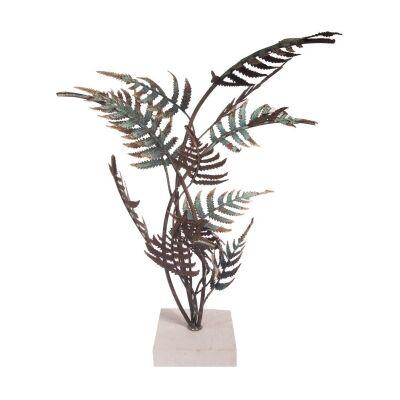 Samoa Metal Fern Sculpture on Stand