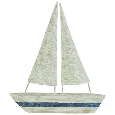 Balmoral Mango Wood Sail Boat Ornament