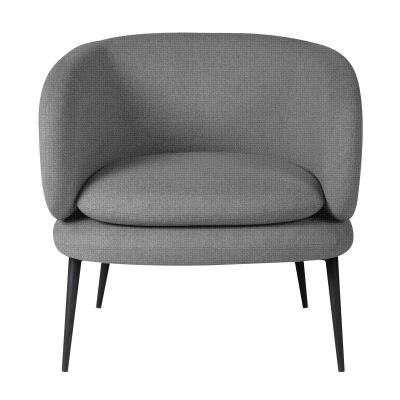 Leonards Velvet Fabric Occasional Armchair, Charcoal