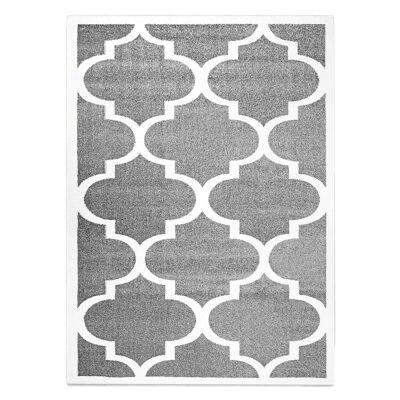 Orlando Trellis Modern Rug, 120x170cm, Grey