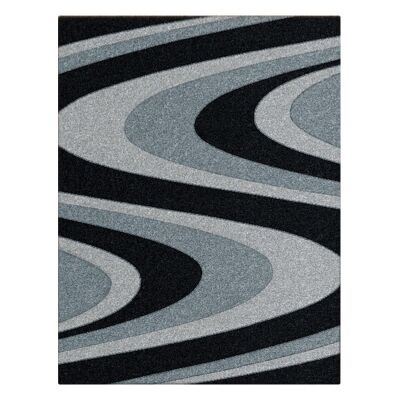 Orlando Azriel Modern Rug, 120x170cm, Black
